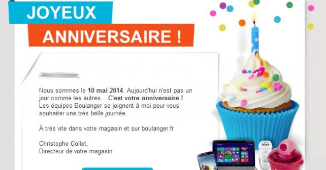 exemple email anniversaire client